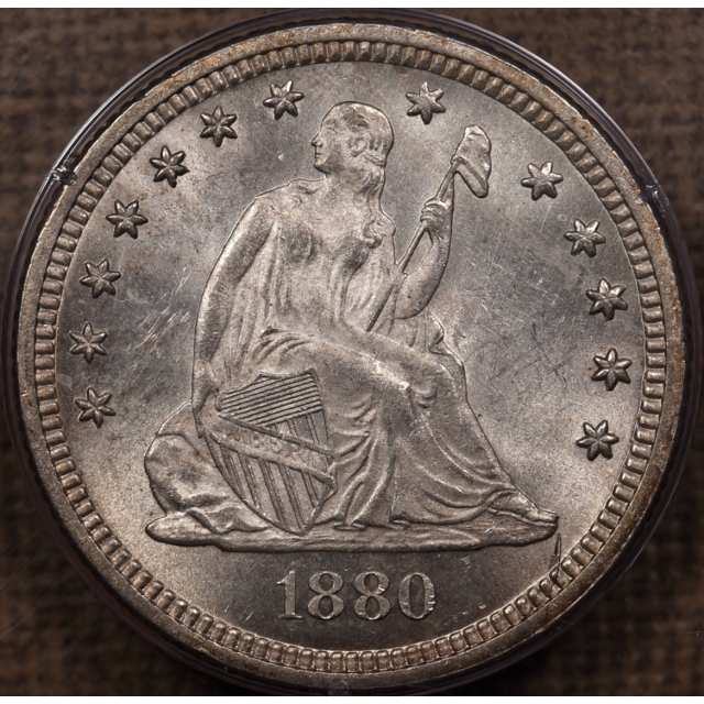 1880 25C Liberty Seated Quarter PCGS MS63 Rattler