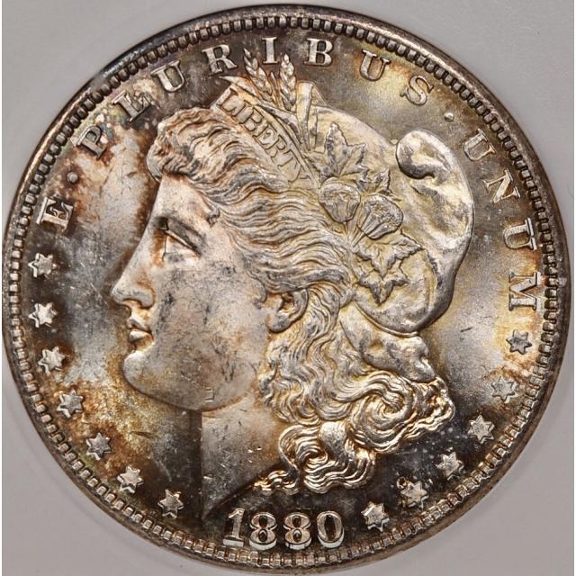 1880-S Morgan Dollar super-old ANACS MS64, really a gem
