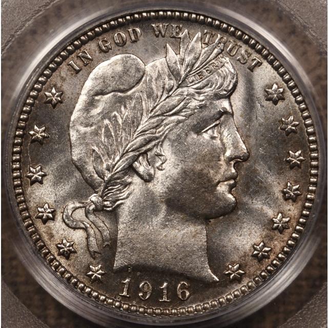 1916-D Barber Quarter PCGS MS64 OGH CAC
