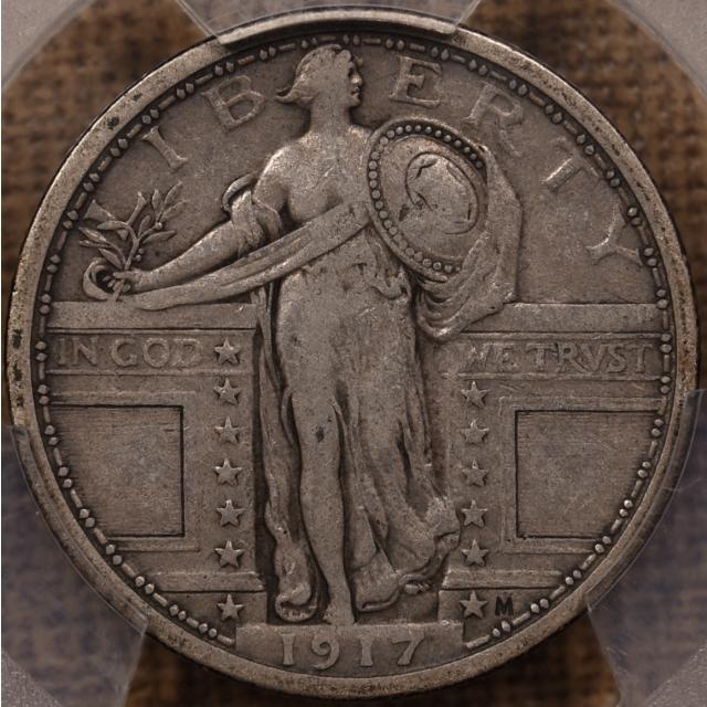 1917 Type 1 Standing Liberty Quarter PCGS VF30