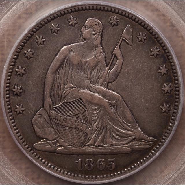 1865 Liberty Seated Half Dollar PCGS XF40 CAC