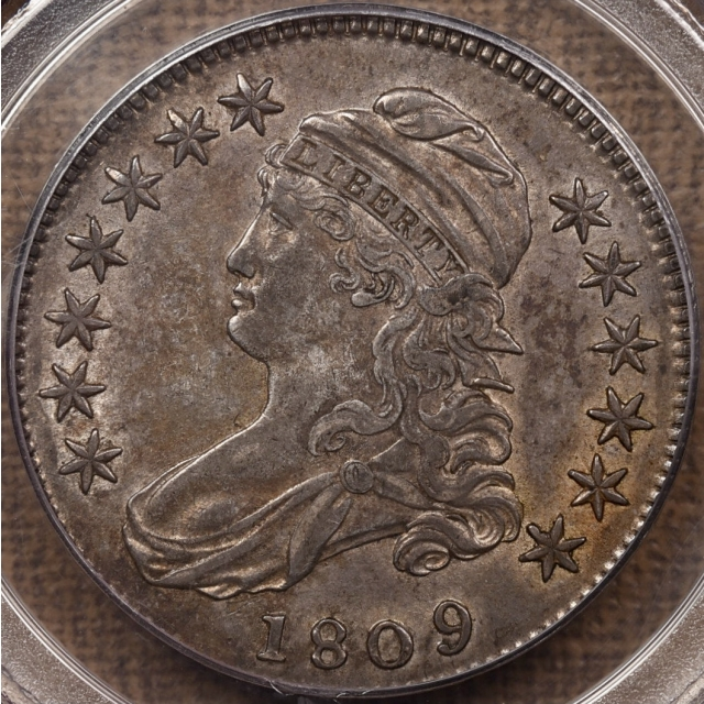 1809 O.106' (Prime die state) Capped Bust Half Dollar PCGS AU50 OGH CAC