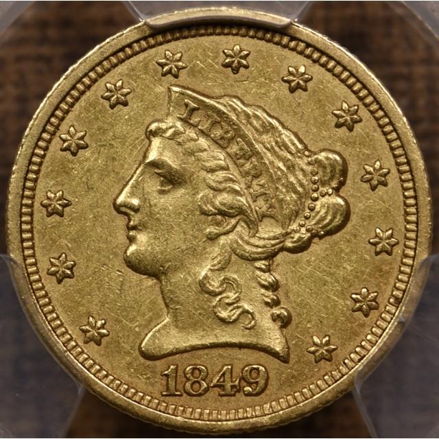 1849-C $2.50 Liberty Head Quarter Eagle PCGS AU53 CAC