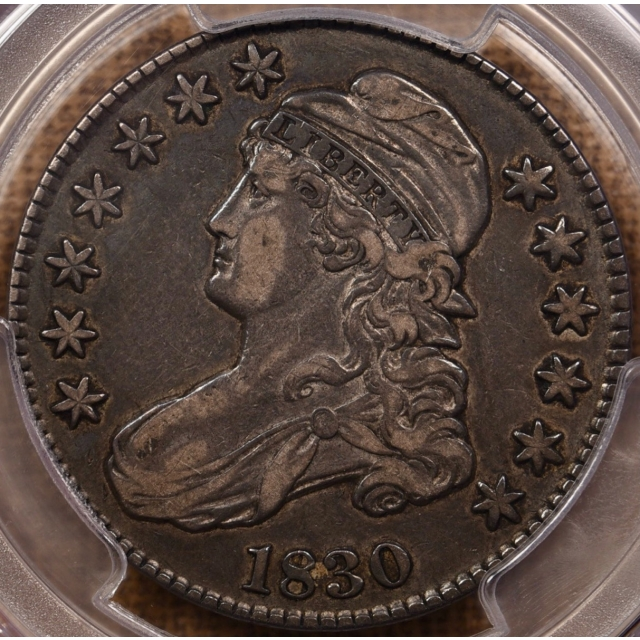 1830 O.117 Small 0 Capped Bust Half Dollar PCGS XF40