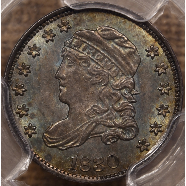 1830 LM-6 R4 Capped Bust Half Dime PCGS MS64+ GOLD CAC, Probable Finest Known