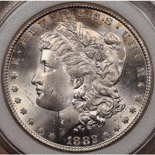 1882-CC Morgan Dollar  ancient NCI MS65, Semi P/L