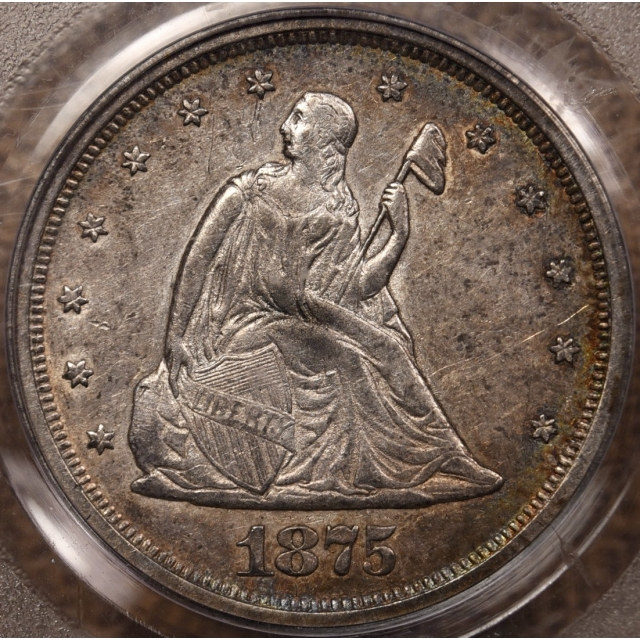 1875-S BF-4 R4 Twenty Cent PCGS AU50