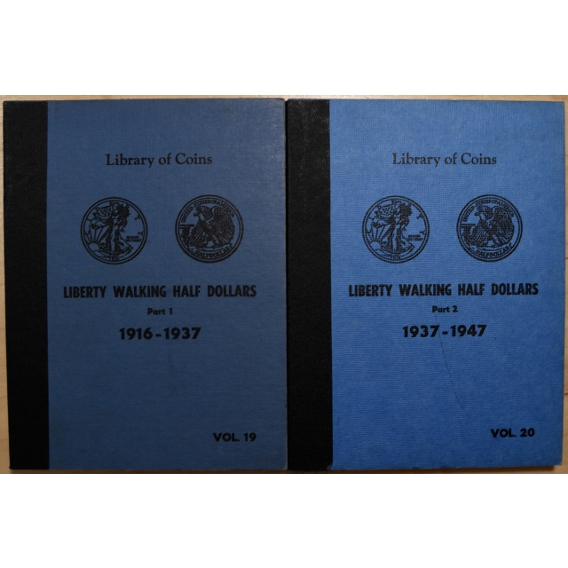 Library of Coins Volumes 19 and 20, Liberty Walking Half Dollars (1916-1947) Parts 1 and 2 Complete (2 of 2)
