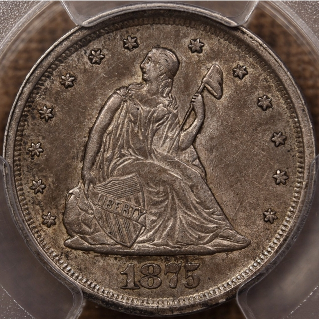 1875-S Twenty Cent PCGS AU55 CAC