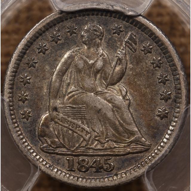 1845 Liberty Seated Half Dime PCGS XF45, PQ