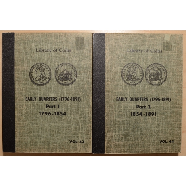 Library of Coins Volumes 43 and 44, Early Quarters Part 1 (1796-1854) and Part 2 (1854-1891), Complete Set