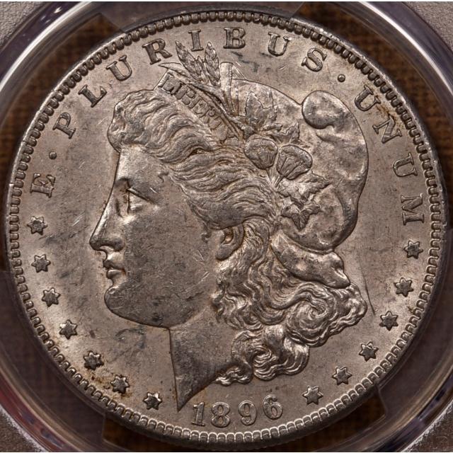 1896-S Morgan Dollar PCGS AU53 CAC, NE Hoard