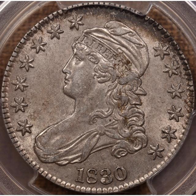 1830 O.116 Small 0 Capped Bust Half Dollar PCGS AU58 CAC