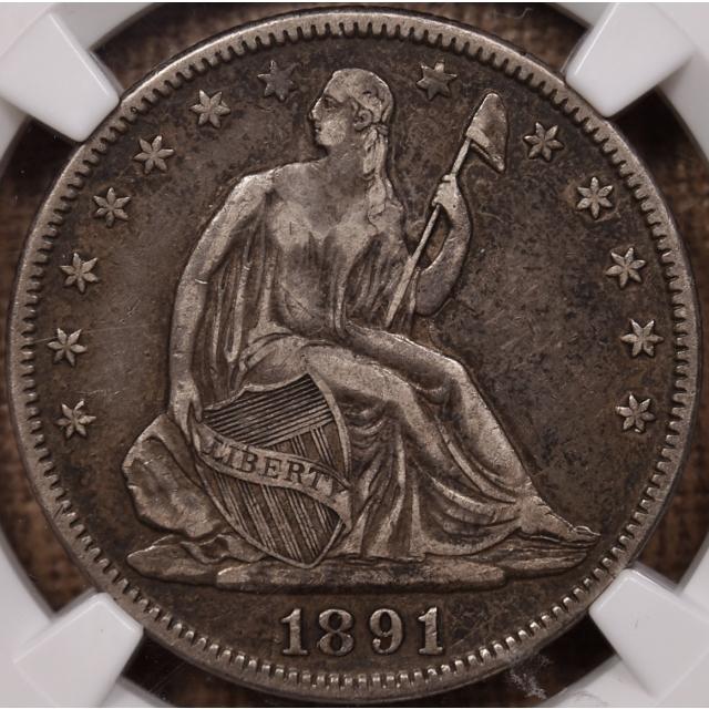 1891 Seated Liberty Half Dollar NGC VF30