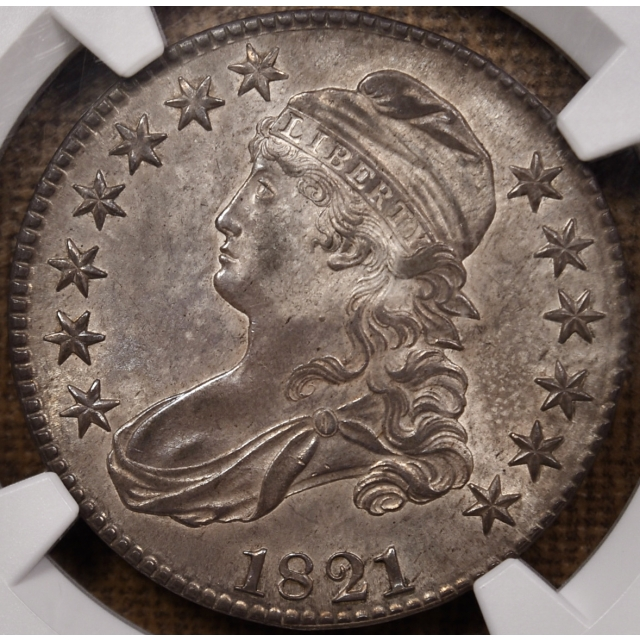 1821 O.103 Capped Bust Half Dollar NGC MS61