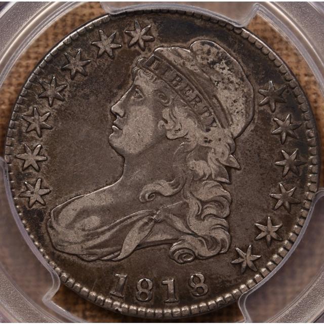 1818 O.108 Capped Bust Half Dollar PCGS VF30