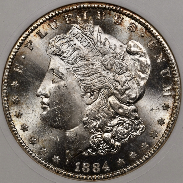1884-CC Morgan Dollar old ANACS MS64, outstanding quality