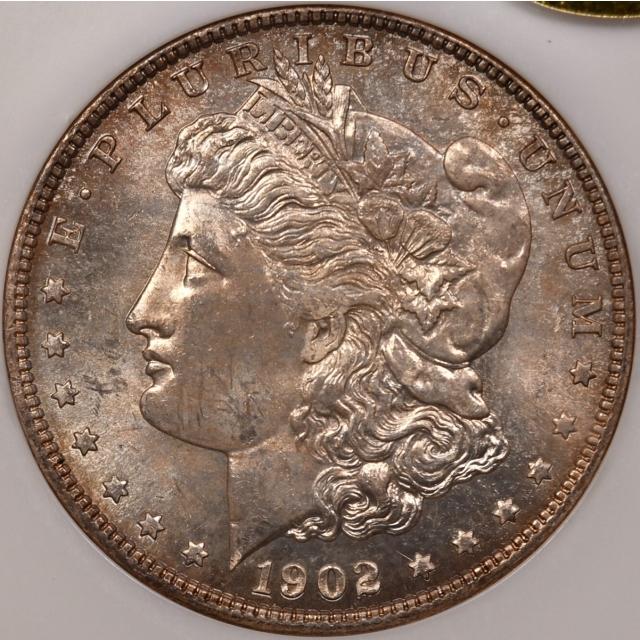 1902-O $1 Morgan Dollar NGC MS62 Fatty, Gold CAC