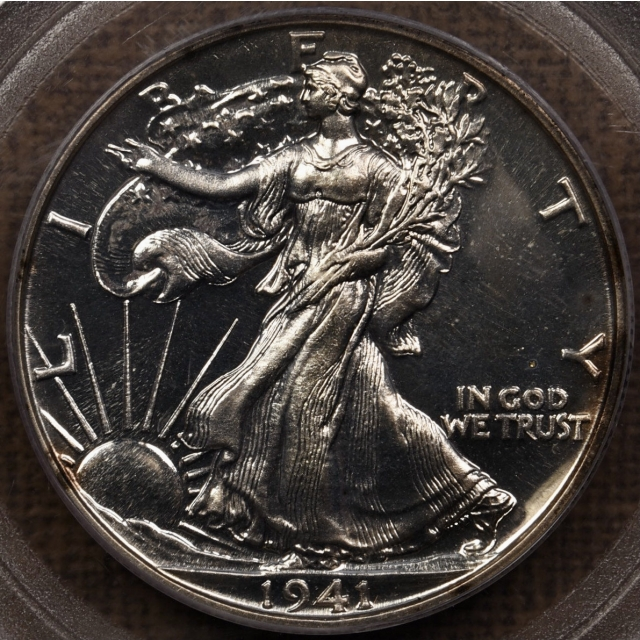 1941 Proof Walking Liberty Half Dollar PCGS PR65 CAC
