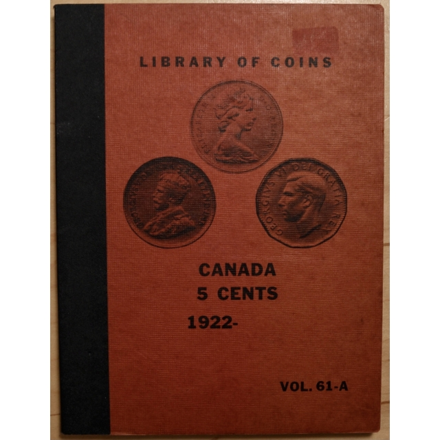 Library of Coins Volume 61A, Canada 5 Cents (1922-1969 plus)