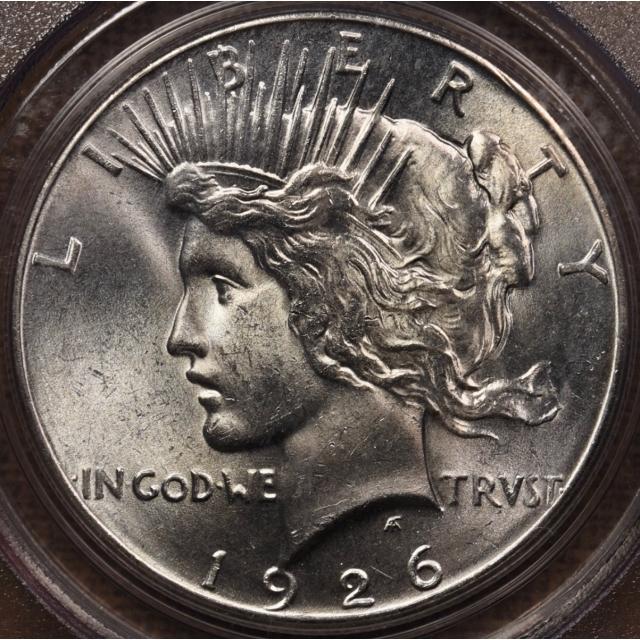 1926 Peace Dollar PCGS MS64 OGH CAC