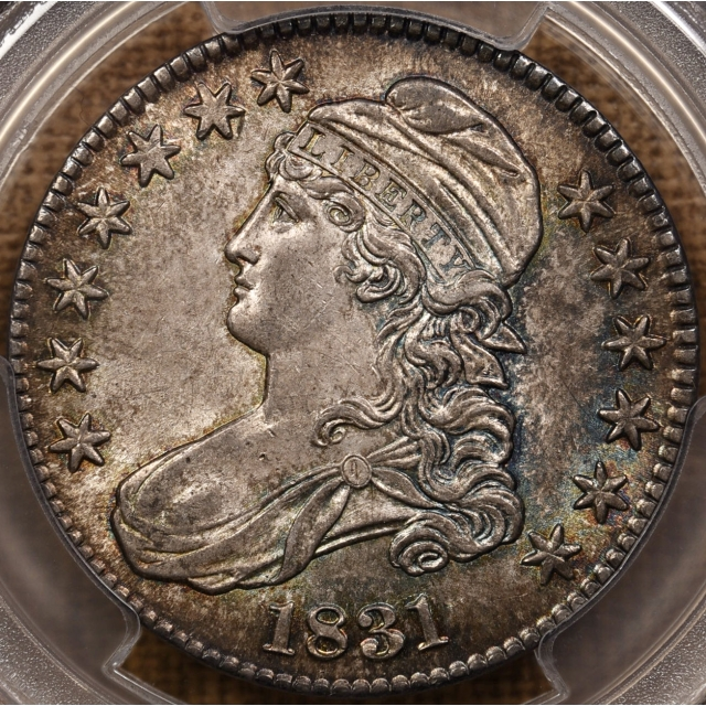 1831 O.118 Capped Bust Half Dollar PCGS MS64, ex. Link Collection