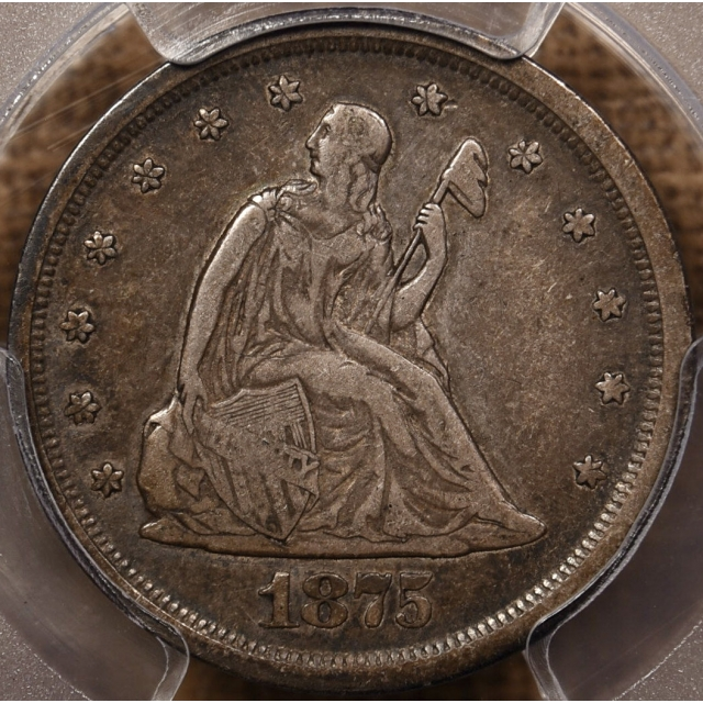 1875-S BF-5 Twenty Cent PCGS VF30