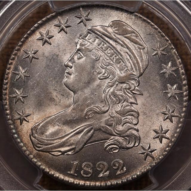 1822 O.111 Capped Bust Half Dollar PCGS AU58 CAC, ex. Link et al