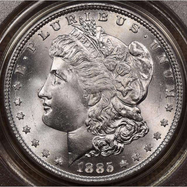 1885 Morgan Dollar PCGS MS65 OGH CAC, Anybody's 65+