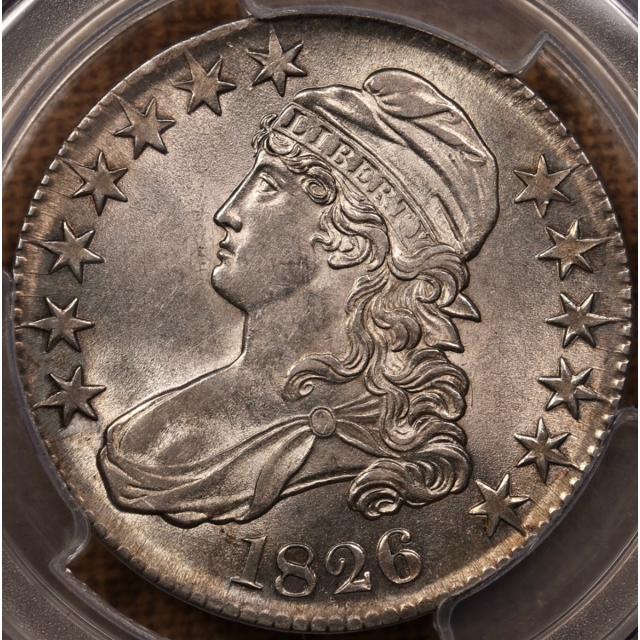1826 O.114 R4+ Capped Bust Half Dollar PCGS MS61