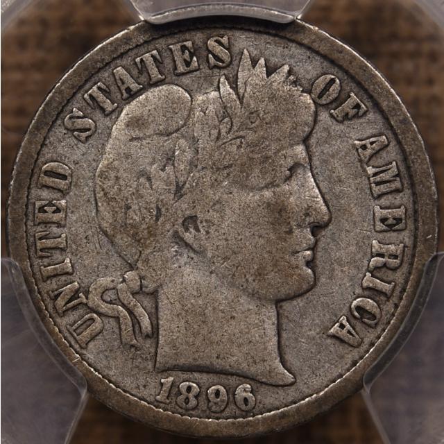 1896-O Barber Dime PCGS VG10