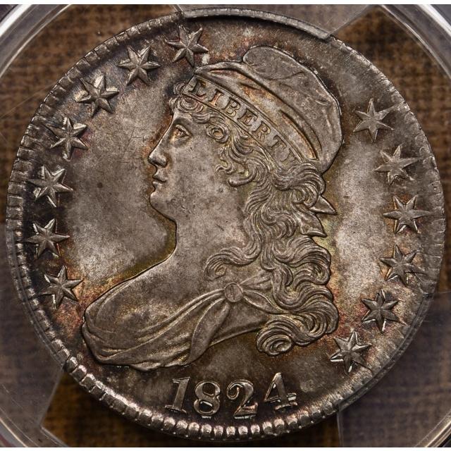 1824 O.117 Capped Bust Half Dollar PCGS MS66
