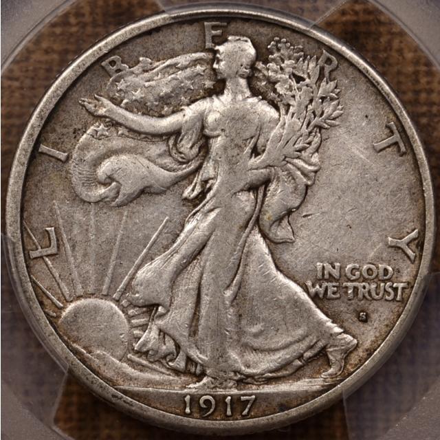 1917-S Obverse Walking Liberty Half Dollar PCGS VF20
