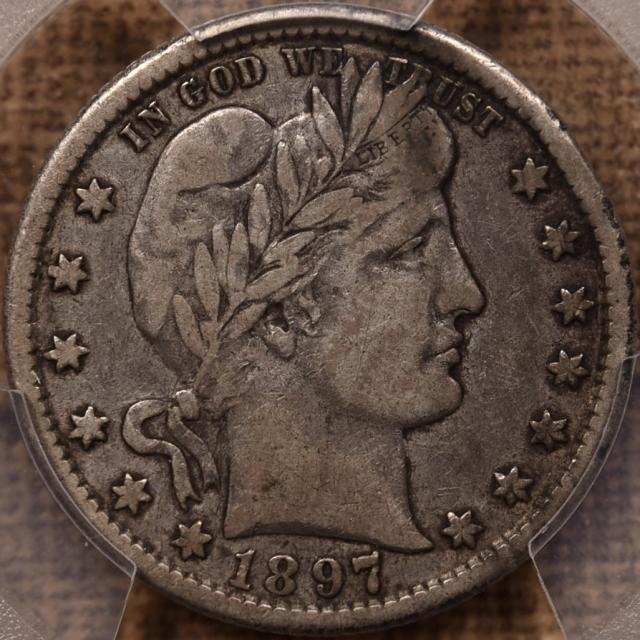 1897-O Barber Quarter PCGS VF25 CAC