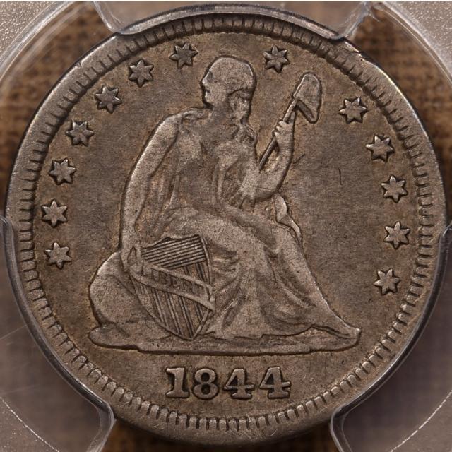 1844-O Liberty Seated Quarter PCGS VF30 CAC