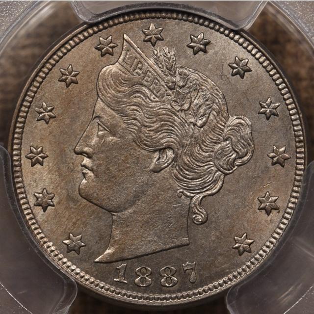 1887 Liberty Nickel PCGS AU58