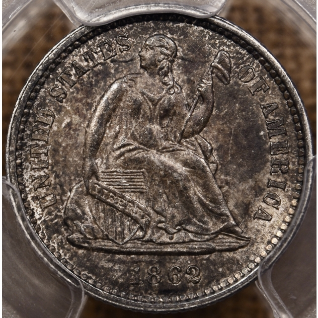 1862 Liberty Seated Half Dime PCGS MS64