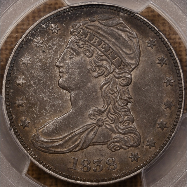 1838 GR-7' (Prime) R4 Capped Bust Half Dollar, PCGS AU55 CAC, From the Dick Graham Reference Collection
