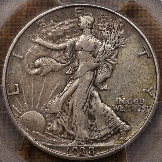 1938-D Walking Liberty Half Dollar PCGS XF40