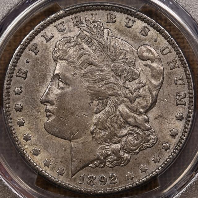 1892 Morgan Dollar PCGS AU55