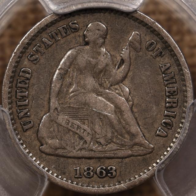 1863-S Liberty Seated Half Dime PCGS VF30