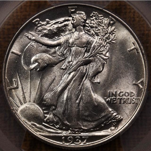 1937 Walking Liberty Half Dollar PCGS AU58
