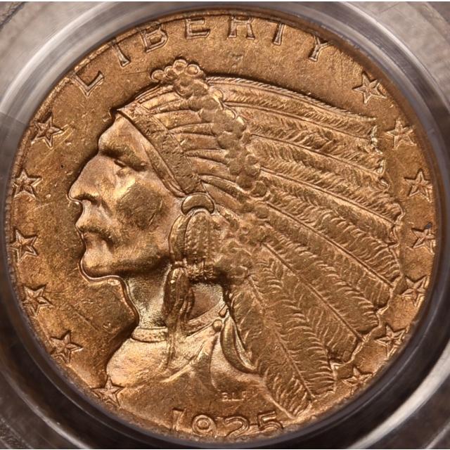 1925-D $2.50 Indian Head Quarter Eagle PCGS MS62 CAC