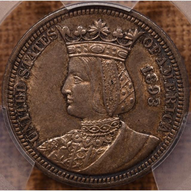 1893 Isabella Silver Commemorative PCGS AU58 CAC