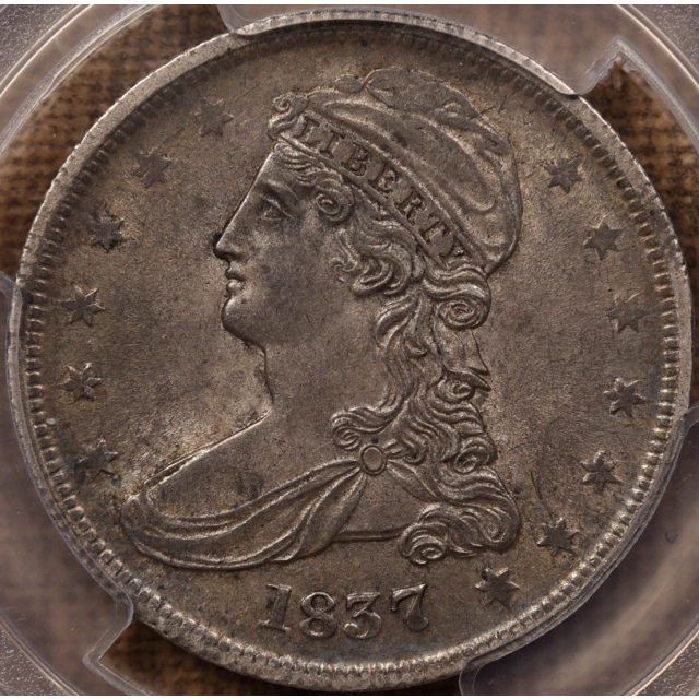 1837 GR-22(?) Capped Bust Half Dollar 50 CENTS Rev PCGS AU53 CAC