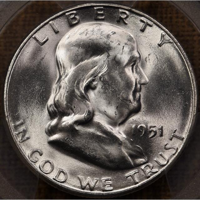 1951-S Franklin Half Dollar PCGS MS64 FBL
