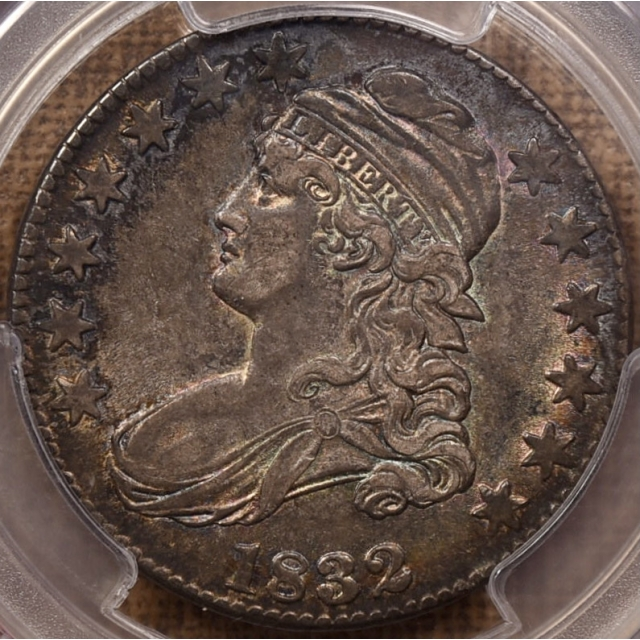 1832 O.119 Small Letters Capped Bust Half Dollar PCGS AU53 CAC
