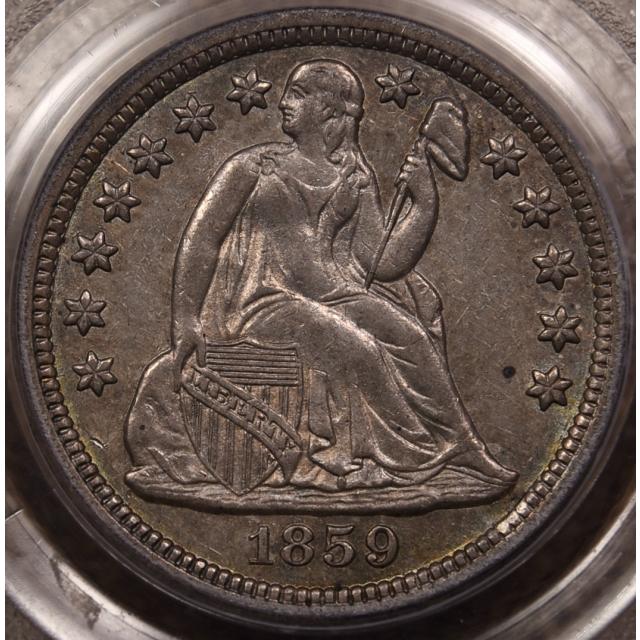 1859 Liberty Seated Dime PCGS AU55