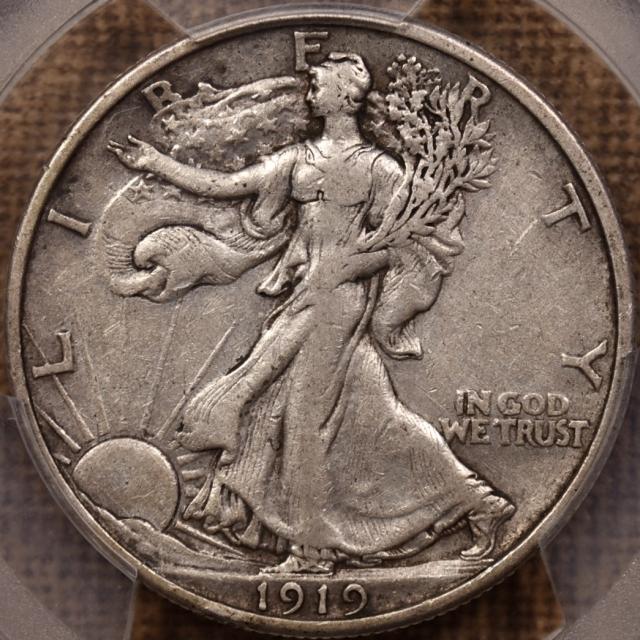 1919 Walking Liberty Half Dollar PCGS VF30
