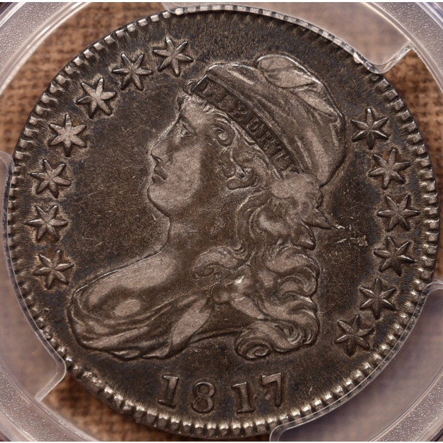 181.7 O.103 Punctuated Date Capped Bust Half Dollar PCGS VF30